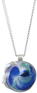 ashes in glass dolphin pendant by lorna reade