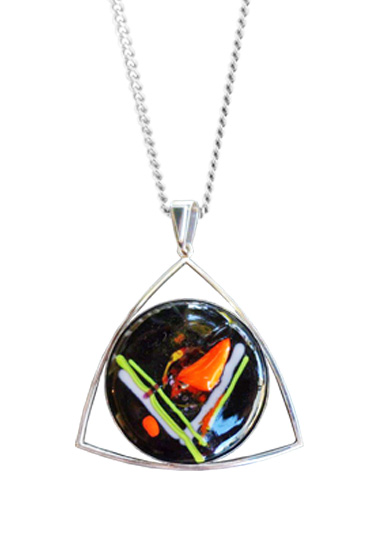 trinity memorial glass pendant by lorna reade at ashes in glass